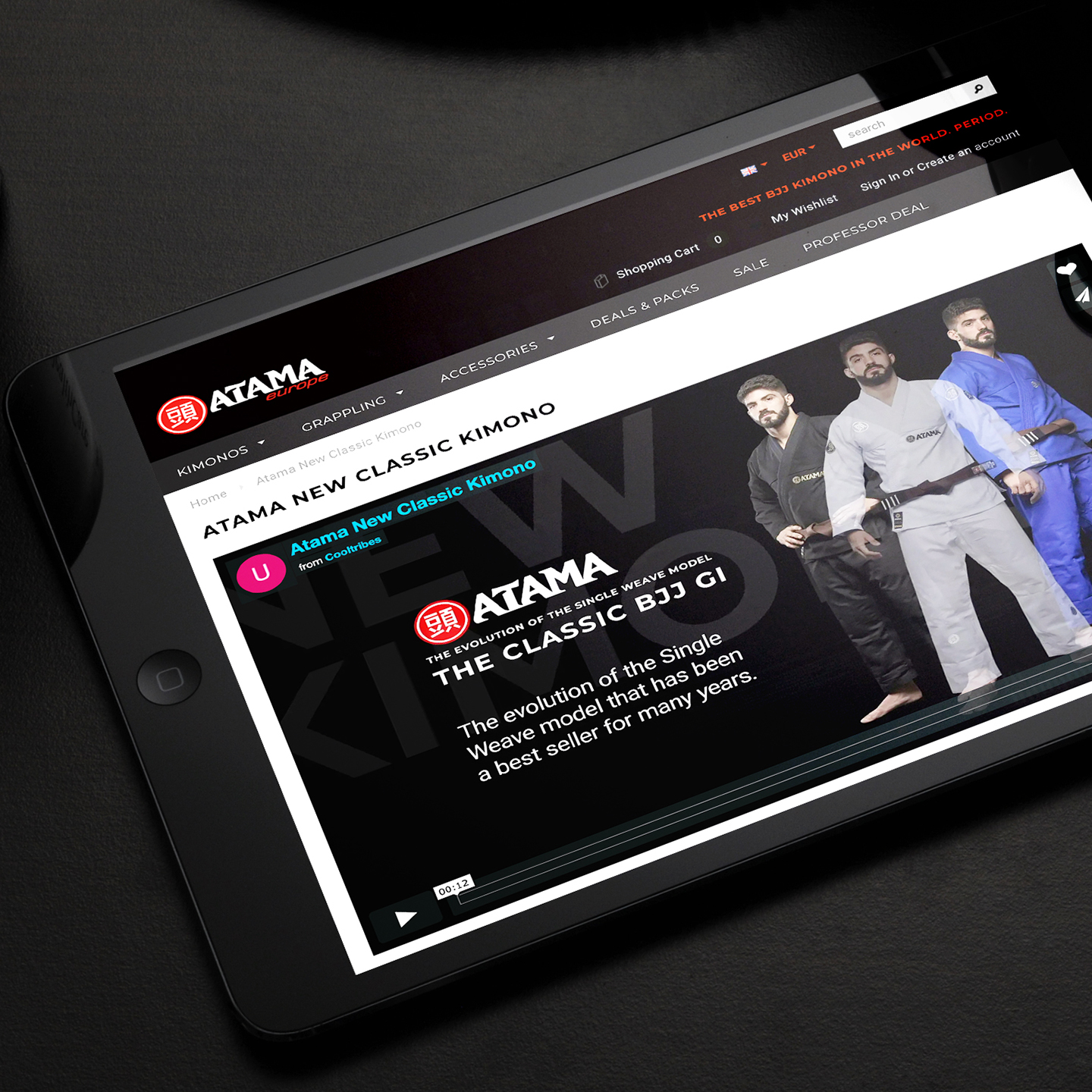 ATAMA website redesign for e-commerce